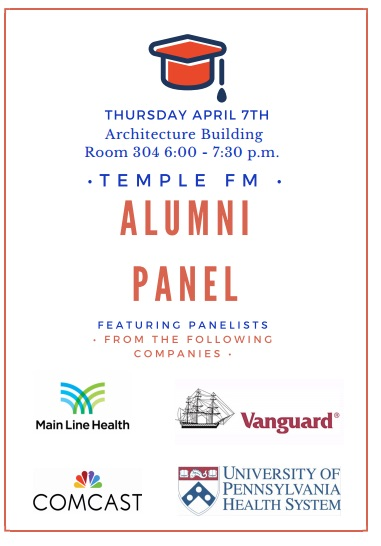 Don't forget to come to this Thursday's Alumni Panel